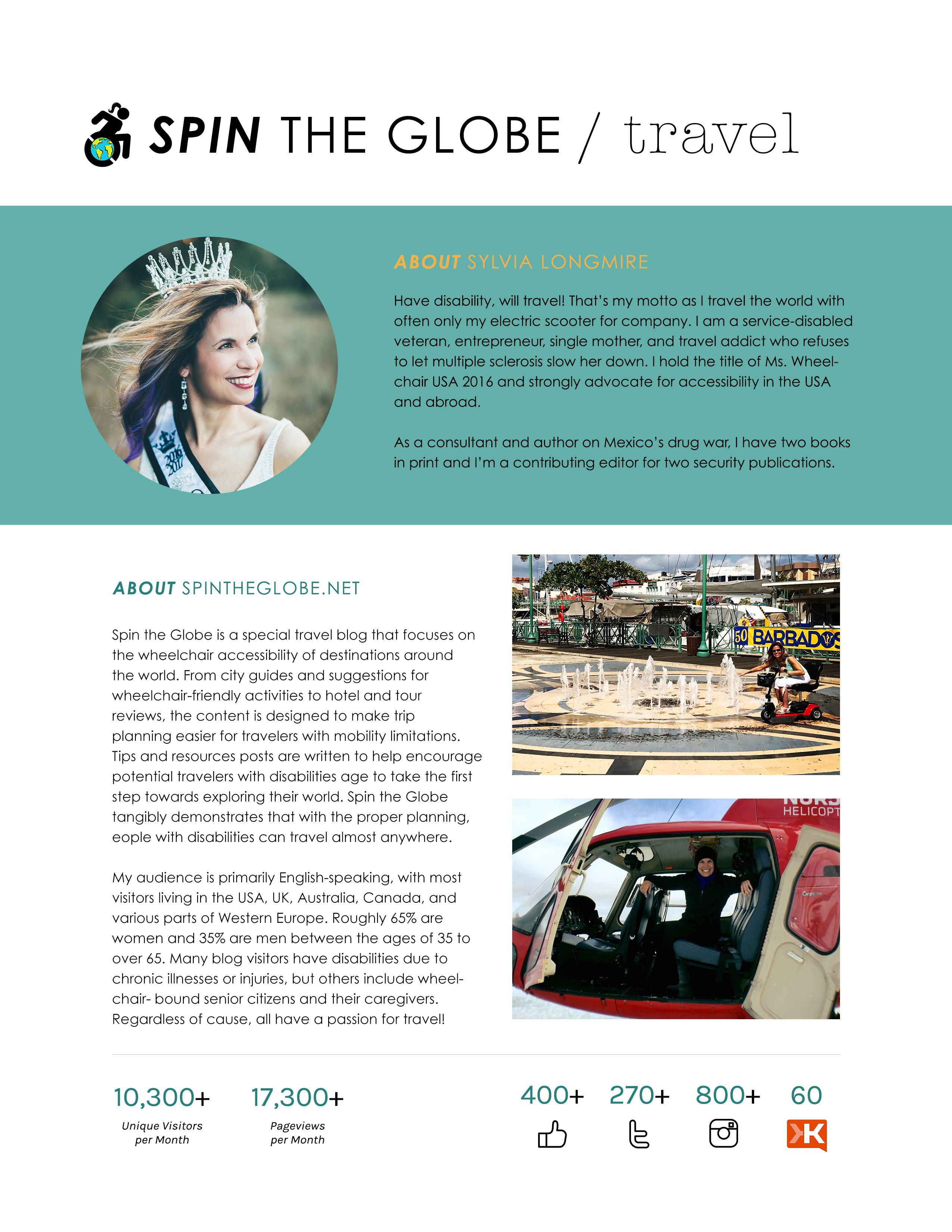 spin the globe sylvia longmire media kit page 1
