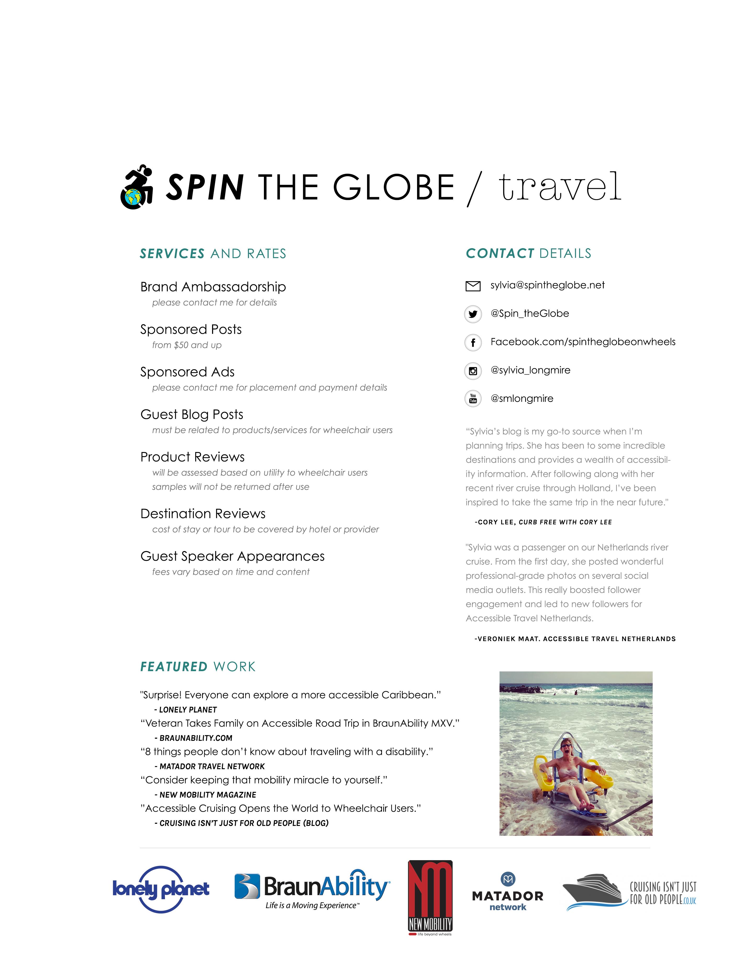 spin the globe sylvia longmire media kit [age 2