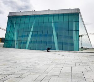 on the roof oslo opera house norway
