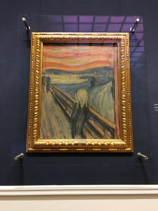 the scream in the national gallery museum oslo